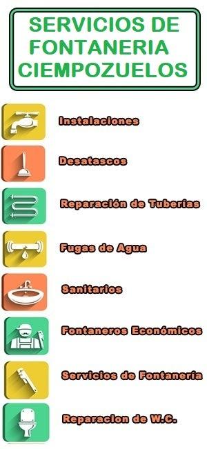 servicios de fontaneria en Ciempozuelos